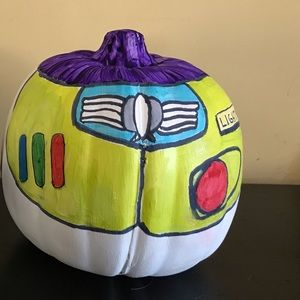 Buzz Lightyear hand painted faux pumpkin